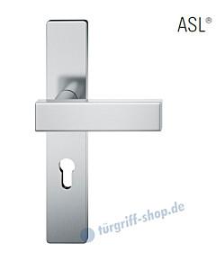 12-1410 Halbgarnitur, eckiges Langschild ASL® mit Drücker 1003 in Edelstahl feinmatt von FSB