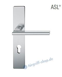 12-1410 Halbgarnitur, eckiges Langschild ASL® mit Drücker 1035 in Edelstahl feinmatt von FSB