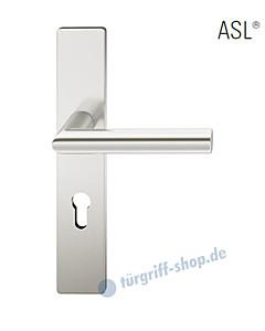 12-1410 Halbgarnitur, eckiges Langschild ASL® mit Drücker 1076 in Alu naturfarbig eloxiert von FSB
