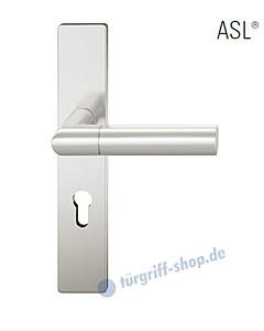 12-1410 Halbgarnitur, eckiges Langschild ASL® mit Drücker 1078, Vierkantaufnahme 8 mm, Alu naturfarbig eloxiert von FSB