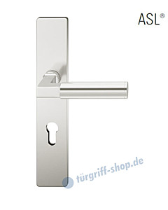 12-1410 Halbgarnitur, eckiges Langschild ASL® mit Drücker 1102 in Alu naturfarbig eloxiert von FSB