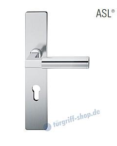 12-1410 Halbgarnitur, eckiges Langschild ASL® mit Drücker 1102 in Edelstahl feinmatt von FSB