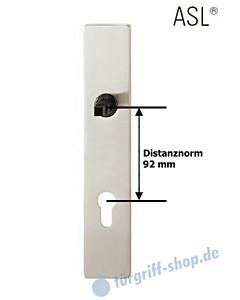 12-1410 eckiges Langschild ASL® mit PZ-Lochung, 92mm, Vierkantaufnahme 8 mm, Alu F1 natureloxiert FSB