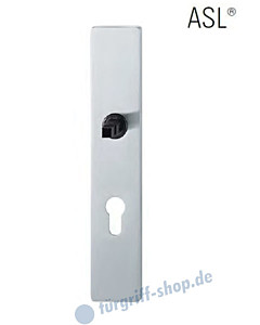 12-1410 eckiges Langschild ASL® mit PZ-Lochung, 72mm, Vierkantaufnahme 8 mm, Edelstahl feinmatt FSB