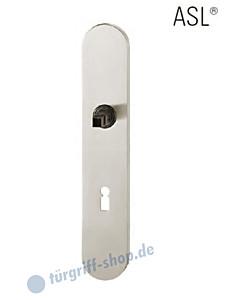 12-1418 ovales Langschild ASL® mit BB-Lochung, 72 mm, Vierkantaufnahme 8 mm, Aluminium F1 natureloxiert FSB