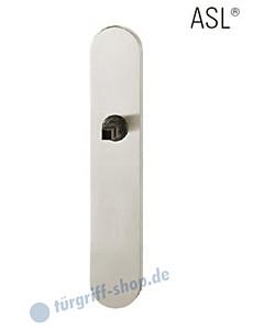 12-1418 ovales Langschild ASL® ohne Lochung (blind), 72mm, Vierkantaufnahme 8 mm, Aluminium F1 natureloxiert FSB