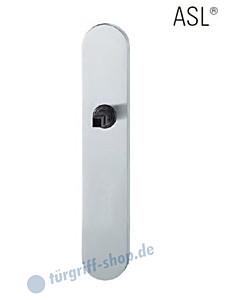 12-1418 ovales Langschild ASL® ohne Lochung (blind), 72mm, Vierkantaufnahme 8 mm, Edelstahl feinmatt FSB