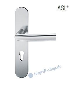 12-1418 Halbgarnitur, ovales Langschild ASL® mit Drücker 1107, Vierkantaufnahme 8 mm, Edelstahl feinmatt von FSB