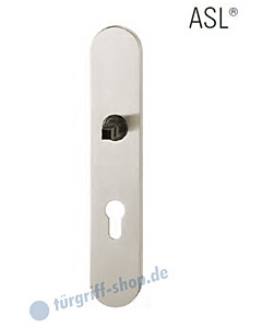 12-1418 ovales Langschild ASL® mit PZ-Lochung, 72mm, Vierkantaufnahme 8 mm, Aluminium F1 natureloxiert FSB