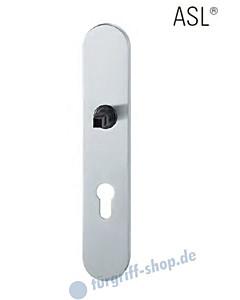 12-1418 ovales Langschild ASL® mit PZ-Lochung, 72mm, Vierkantaufnahme 8 mm, Edelstahl feinmatt FSB
