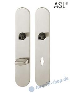 12-1418 ovales Langschildpaar ASL® mit WC-Verriegelung, 78 mm, Vierkantaufnahme 8 mm, Aluminium F1 natureloxiert FSB