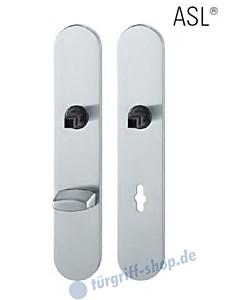 12-1418 ovales Langschildpaar ASL® mit WC-Verriegelung, 78 mm, Vierkantaufnahme 8 mm, Edelstahl feinmatt FSB