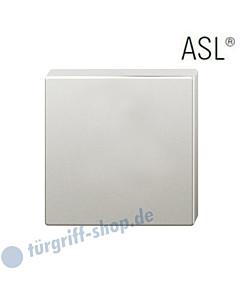 12-1704 quadratische Schlüsselrosette ASL® ohne Lochung (blind) Alu F1 natur eloxiert FSB