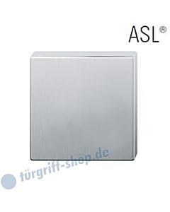 12-1704 quadratische Schlüsselrosette ASL® ohne Lochung (blind) Edelstahl feinmatt FSB