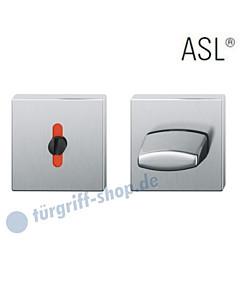 12-1704 quadratisches WC Schlüsselrosetten-Paar ASL® in Edelstahl feinmatt FSB