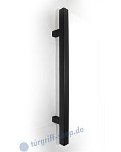 Stossgriff 1489A Griff 30x30 mm, gerade Stützen, diverse Längen, Edelstahl schwarz RAL 9005 Spitzer