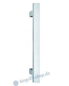 Stossgriff 1489ES mit Bohrabstand nach Kundenwunsch, Griff 30x30 mm, gerade Stützen, Längen bis 2000mm Edelstahl matt von Spitzer