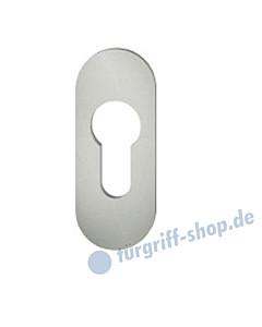 17-1729 Kleberosette oval mit PZ-Lochung | 28x70 Stärke 3 mm | Alu F1 von FSB