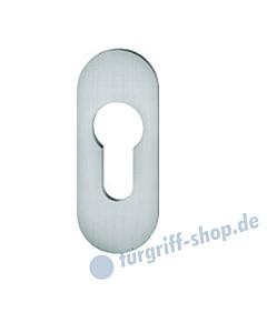 17-1729 Kleberosette oval mit PZ-Lochung | 28x70 Stärke 3 mm | Edelstahl matt von FSB