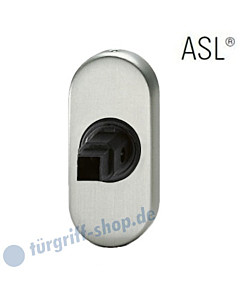 17-1758 ovale Türdrückerrosette ASL®, Vierkantaufnahme 8 mm, Alu F1 natur eloxiert FSB für Rahmentüren