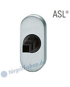 17-1758 ovale Türdrückerrosette ASL®, Vierkantaufnahme 8 mm, Edelstahl feinmatt FSB für Rahmentüren
