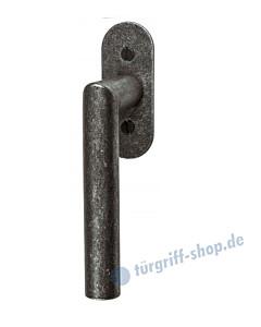 182 Fenstergriff mit ovaler Rosette, mit Rasterung Multitac®, Stift 7 x 35 mm, schwarz passiviert von Halcö