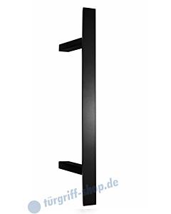 Stossgriff 1889A mit Bohrabstand nach Kundenwunsch, Griff 40 x 20 mm, schräge Stützen, Länge bis 2000 mm Schwarz RAL 9005 matt von Spitzer