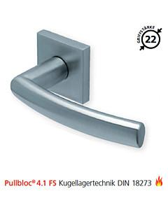 2003 quadratische Feuerschutzgarnitur Pullbloc® 4.1 FS Kugellager Edelstahl matt von Scoop