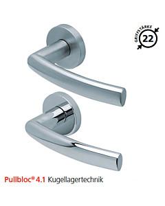 2003 Rosettengarnitur Pullbloc® 4.1 Kugellagertechnik in Edelstahl matt oder poliert von Scoop