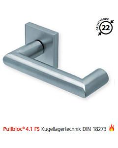 2009 quadratische Feuerschutzgarnitur Pullbloc® 4.1 FS Kugellager Edelstahl matt von Scoop