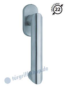 2009 Fenstergriff oval Edelstahl o. PVD Messing-poliert von Scoop
