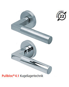 2016 Rosettengarnitur Pullbloc® 4.1 Kugellagertechnik in Edelstahl matt oder poliert von Scoop