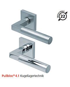 2016 quadratische Rosettengarnitur Pullbloc® 4.1 Kugellagertechnik in Edelstahl matt oder poliert von Scoop