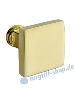 Knopflochteil 373-508 quadratisch, feststehend o. drehbar Ultra Messing von Jatec
