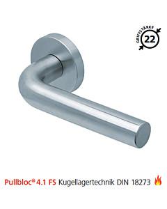 2100 Feuerschutzgarnitur Pullbloc® 4.1 FS Kugellager Edelstahl matt von Scoop