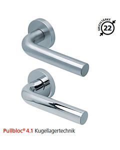 2100 Rosettengarnitur Pullbloc® 4.1 Kugellagertechnik in Edelstahl matt oder poliert von Scoop