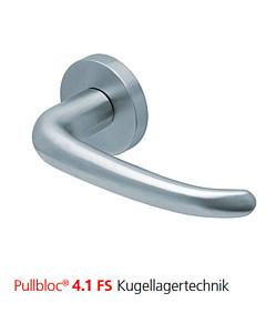 2103 Feuerschutzgarnitur Pullbloc® 4.1 FS Kugellager Edelstahl matt von Scoop - ohne Schlüsselrosette