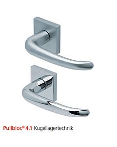 2103 quadratische Rosettengarnitur Pullbloc® 4.1 Kugellagertechnik in Edelstahl matt oder poliert von Scoop