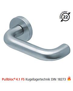 2104 Feuerschutzgarnitur Pullbloc® 4.1 FS Kugellager Edelstahl matt von Scoop