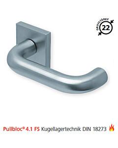 2104 quadratische Feuerschutzgarnitur Pullbloc® 4.1 FS Kugellager Edelstahl matt von Scoop