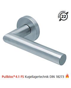 2106 Feuerschutzgarnitur Pullbloc® 4.1 FS Kugellager Edelstahl matt von Scoop - ohne Schlüsselrosette