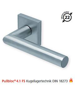 2106 quadratische Feuerschutzgarnitur Pullbloc® 4.1 FS Kugellager Edelstahl matt von Scoop