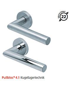 2106 Rosettengarnitur Pullbloc® 4.1 Kugellagertechnik in Edelstahl matt oder poliert von Scoop