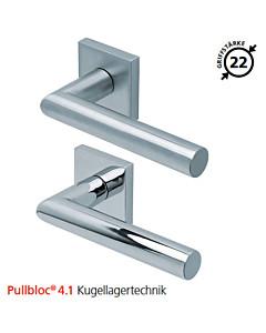 2106 quadratische Rosettengarnitur Pullbloc® 4.1 Kugellagertechnik in Edelstahl matt oder poliert von Scoop
