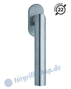 2106 Fenstergriff, ovale Olive, Edelstahl o. PVD Messing-poliert Scoop