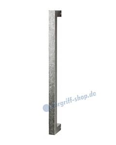 215-058 Bügelgriff für Schiebetür Länge 370 mm, inkl. Befestigungsset schwarz passiviert von Halcö