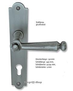 David II-LS Langschildgarnitur Stahl geschwärzt-matt von Südmetall