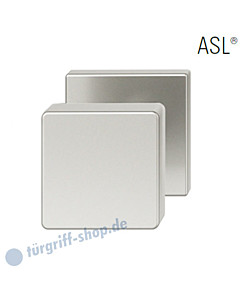 23-0811 quadrat. Türknopf auf quadrat. Rosette ASL® feststehend in Alu naturfarbig eloxiert von FSB
