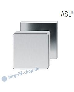 23-0811 quadrat. Türknopf auf quadrat. Rosette ASL® feststehend in Edelstahl feinmatt von FSB