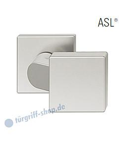 23-0812 quadrat. gekröpfter Türknopf auf quadrat. Rosette ASL® feststehend in Alu naturfarbig eloxiert von FSB